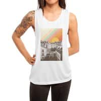 Rainbow Sky Above Paris - womens-muscle-tank - small view