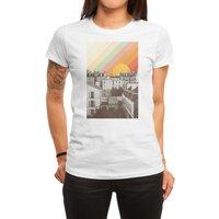 Rainbow Sky Above Paris - womens-regular-tee - small view
