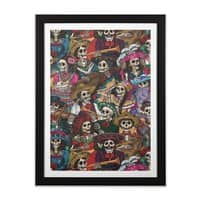 Dia de los Muertos - black-vertical-framed-print - small view
