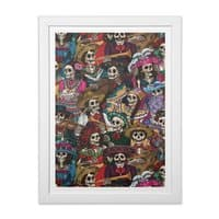 Dia de los Muertos - white-vertical-framed-print - small view