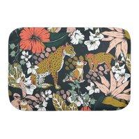 Animal print dark jungle - bath-mat - small view