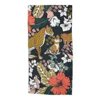 Animal print dark jungle - beach-towel - small view