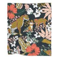 Animal print dark jungle - blanket - small view