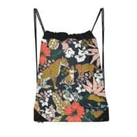 Animal print dark jungle - drawstring-bag - small view