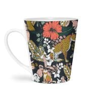 Animal print dark jungle - latte-mug - small view