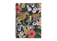 Animal print dark jungle - spiral-notebook - small view