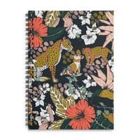 Animal print dark jungle - spiral-notebook - small view