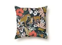 Animal print dark jungle - throw-pillow - small view
