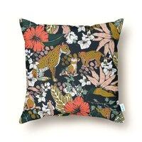 Animal print dark jungle - throw-pillow - small view