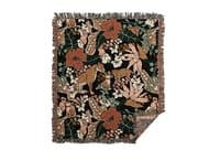Animal print dark jungle - woven-blanket - small view