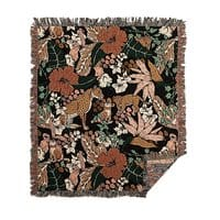 Animal print dark jungle - woven-blanket - small view