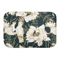 Birds in the dark flowering - bath-mat - small view