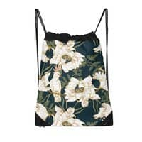 Birds in the dark flowering - drawstring-bag - small view