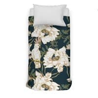 Birds in the dark flowering - duvet-cover - small view
