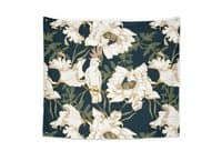 Birds in the dark flowering - indoor-wall-tapestry - small view