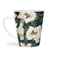 Birds in the dark flowering - latte-mug - small view