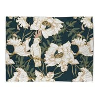 Birds in the dark flowering - rug-landscape - small view