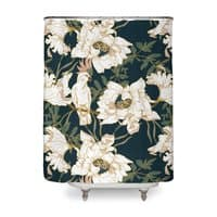 Birds in the dark flowering - shower-curtain - small view