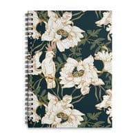Birds in the dark flowering - spiral-notebook - small view