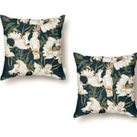 Birds in the dark flowering - throw-pillow - small view