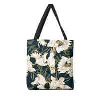 Birds in the dark flowering - tote-bag - small view