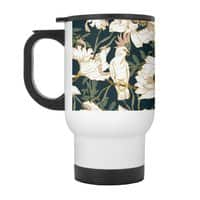 Birds in the dark flowering - travel-mug-with-handle - small view