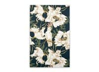 Birds in the dark flowering - vertical-stretched-canvas - small view
