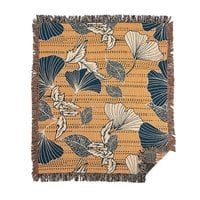 Flowery autumn - woven-blanket - small view