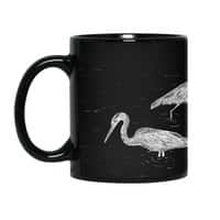 Three Herons - black-mug - small view