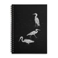 Three Herons - spiral-notebook - small view