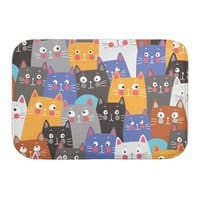 cats, cats, cats ..... - bath-mat - small view