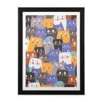 cats, cats, cats ..... - black-vertical-framed-print - small view