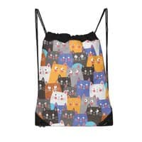 cats, cats, cats ..... - drawstring-bag - small view