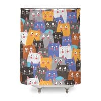 cats, cats, cats ..... - shower-curtain - small view