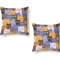 cats, cats, cats ..... - throw-pillow - small view