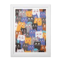 cats, cats, cats ..... - white-vertical-framed-print - small view