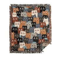 cats, cats, cats ..... - woven-blanket - small view