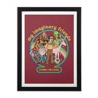 My Imaginary Friends - black-vertical-framed-print - small view