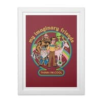 My Imaginary Friends - white-vertical-framed-print - small view