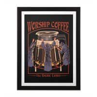 Worship Coffee - black-vertical-framed-print - small view