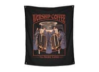Worship Coffee - indoor-wall-tapestry-vertical - small view