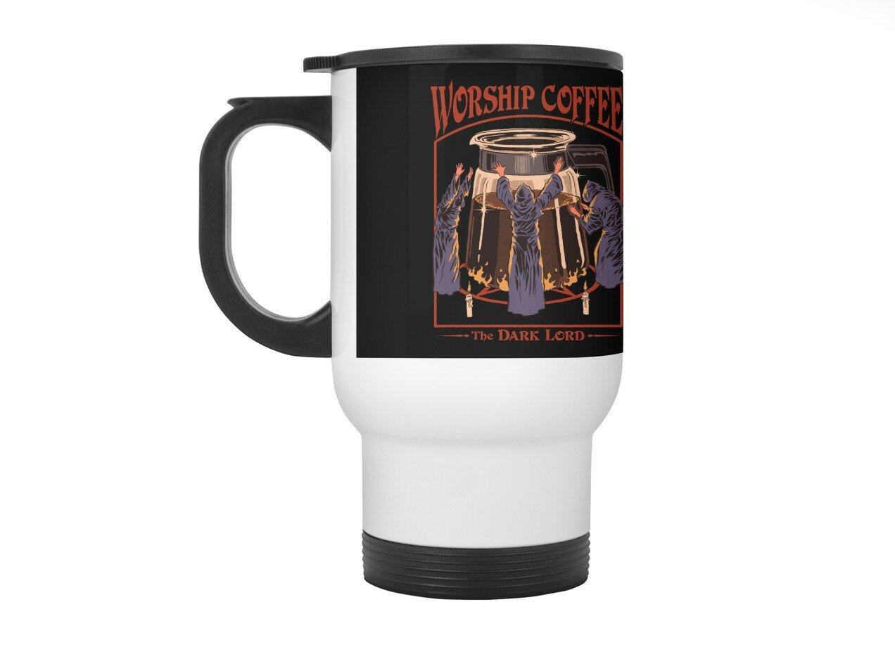 Worship Coffee By Steven Rhodes Travel Mug With Handle Threadless