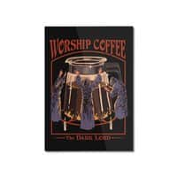 Worship Coffee - vertical-mounted-aluminum-print - small view