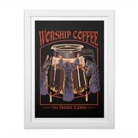 Worship Coffee - white-vertical-framed-print - small view