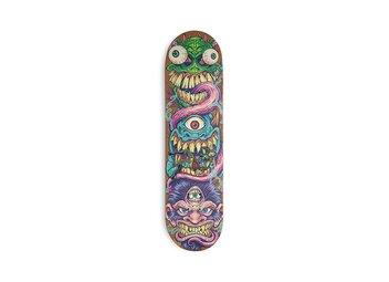 Monster Faces Skateboard Design