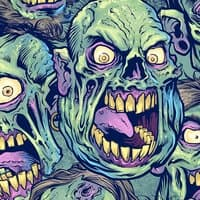 Zombie Pattern Skateboard Design - small view
