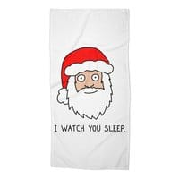 Creepy Santa - beach-towel - small view