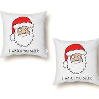 Creepy Santa - throw-pillow - small view
