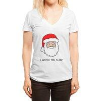 Creepy Santa - womens-deep-v-neck - small view