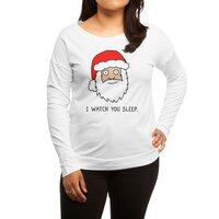 Creepy Santa - womens-long-sleeve-terry-scoop - small view